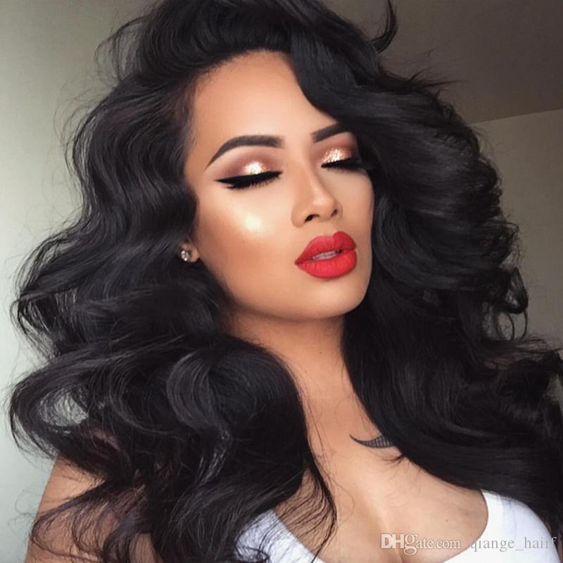 Malaysian Human Hair Silk Top Lace Front Wig Body Wave Full Lace Human Hair Wig With Baby Hair Glueless Lace Wig For Women