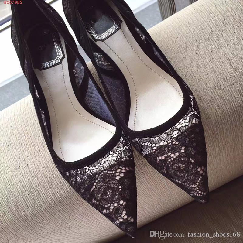 Luxury sexy Genuine Leather fashion lace Slip-On women pumps high heel wedding shoes dance shoes girls poinied stiletto heel shoes