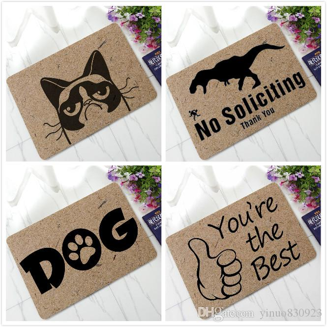 New Cats Dinosaurs Deer Doormat Non Slip Kitchen Rugs Floor Mats Toilet  Tapete Tea Table Antiskid Everything For The Kitchen Rug A New Year Multi  Coloured ...