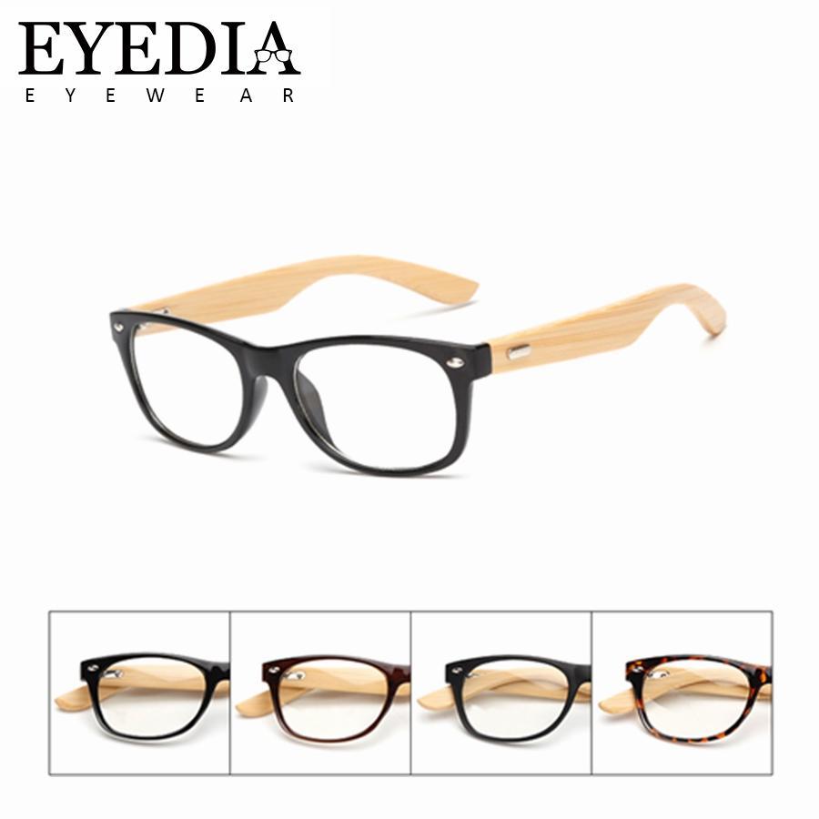 b5da7f8ad24 2019 New Women Men Fashion Eye Glasses Frame Clear Lens Optical Eyeglasses  Wooden Bamboo Arms Black Eyewear Frames Spectacle L1525KP From Xiamenwatch