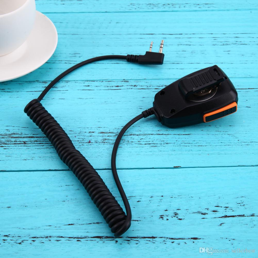 Baofeng Kenwood 2 핀 휴대용 스피커 마이크 TYT 무전기 무전기 용 UV-5R UV-5RE BF-UVB2 Plus BF-888S GT-UV2
