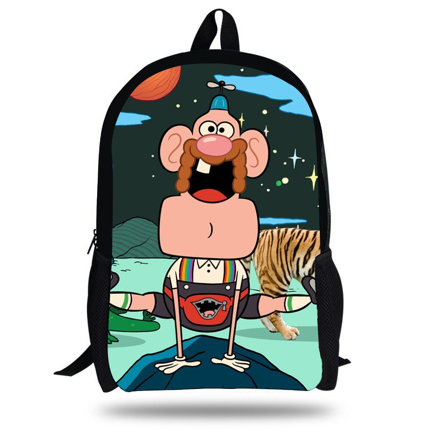 cbef2f5eff 16 Inch Fashion School Bag Cartoon Backpacks Child Uncle Grandpa Backpack  For Kids Bags Girls Backpack For Boys Teenagers Messenger Bags For Women  Gym Bags ...