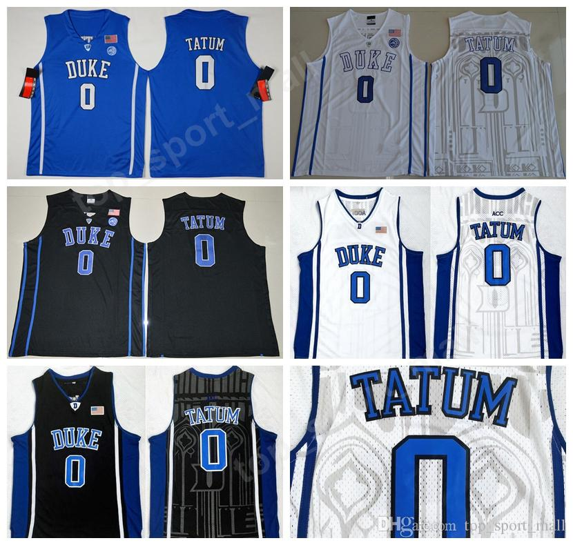 best loved 63b39 d5976 Men 0 Jayson Tatum College Jersey Black Blue White Duke Blue Devils  Basketball Jerseys Color Stitched Sport Breathable Excellent Quality