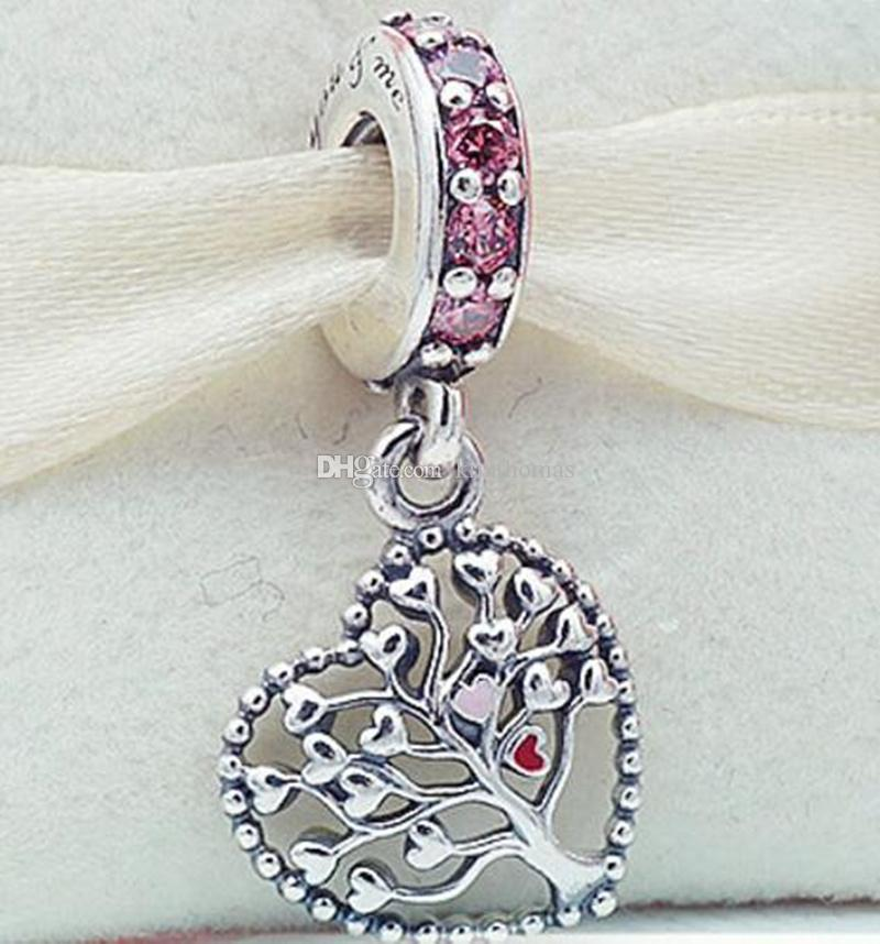 925 sterling silver tree of love dangle charm bead fits european 925 sterling silver tree of love dangle charm bead fits european pandora style jewelry bracelets necklace angel of love charm pandora bracelets pandora aloadofball Image collections