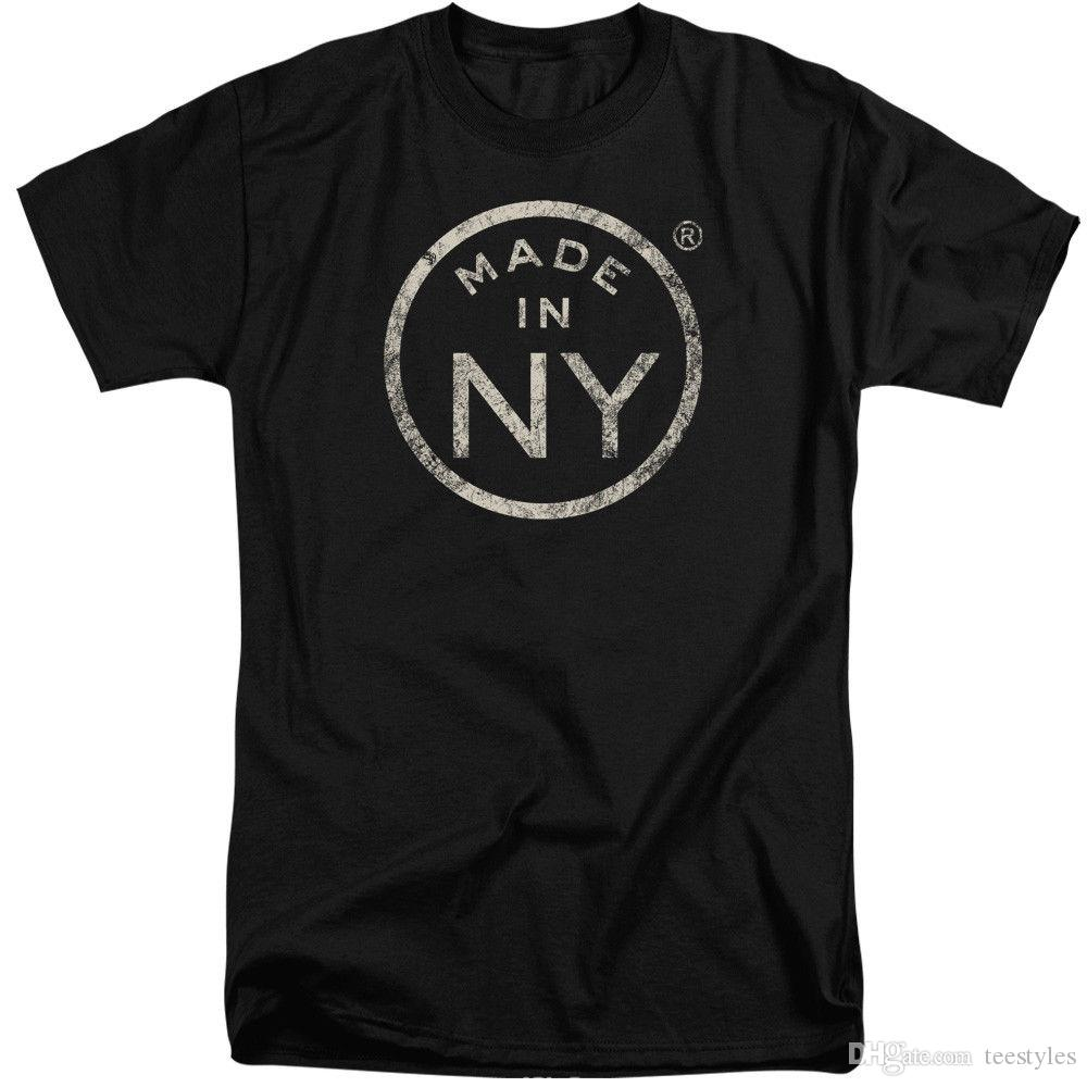 Nyc Tall T Shirt Distressed Made In Ny Black Tee Tee Shirt Men Mans