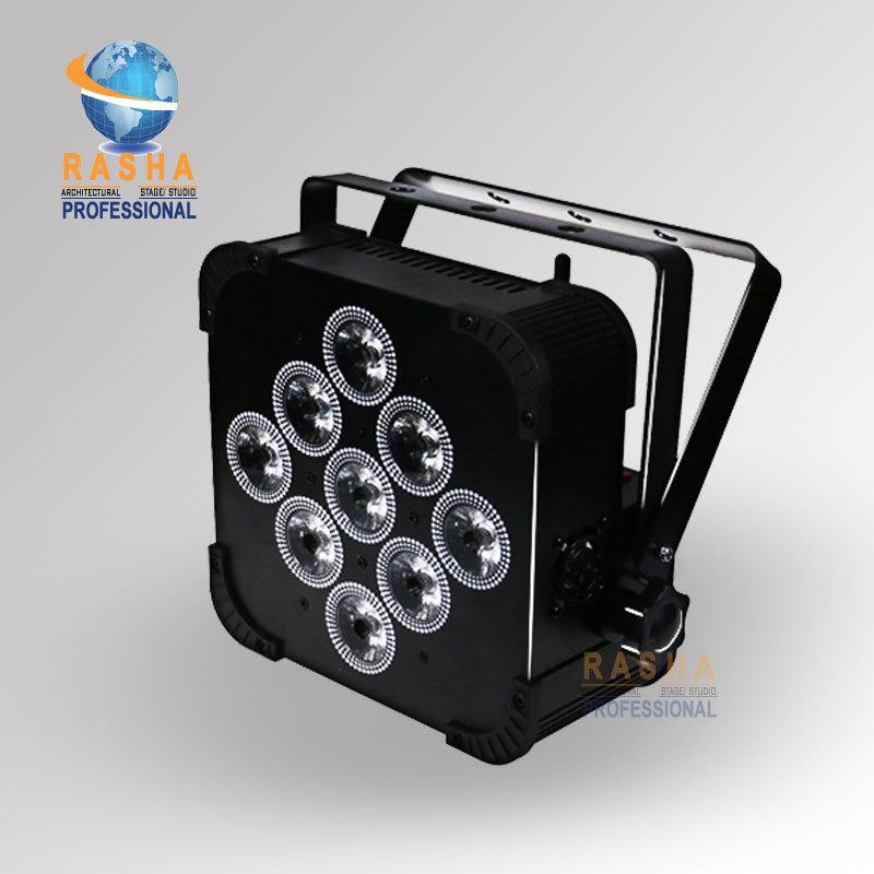 4X Rasha * 18W 6in1 RGBAW + UV Par Light alimentato a batteria con built-in DMX LED Slim Par Can wireless
