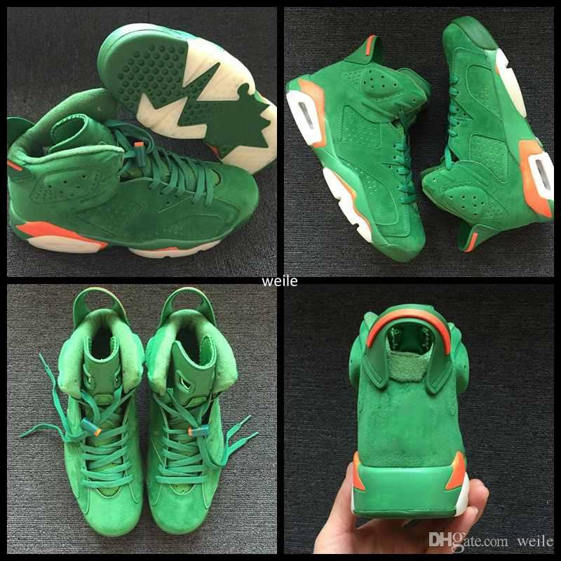 910429eb92a 2019 2018 Gatorade Green White Orange Suede NRD 6 VI Basketball Shoes For Men  6s Mens Sports Sneakers Trainer Size Eur 40 47 From Weile, $89.9 |  DHgate.Com