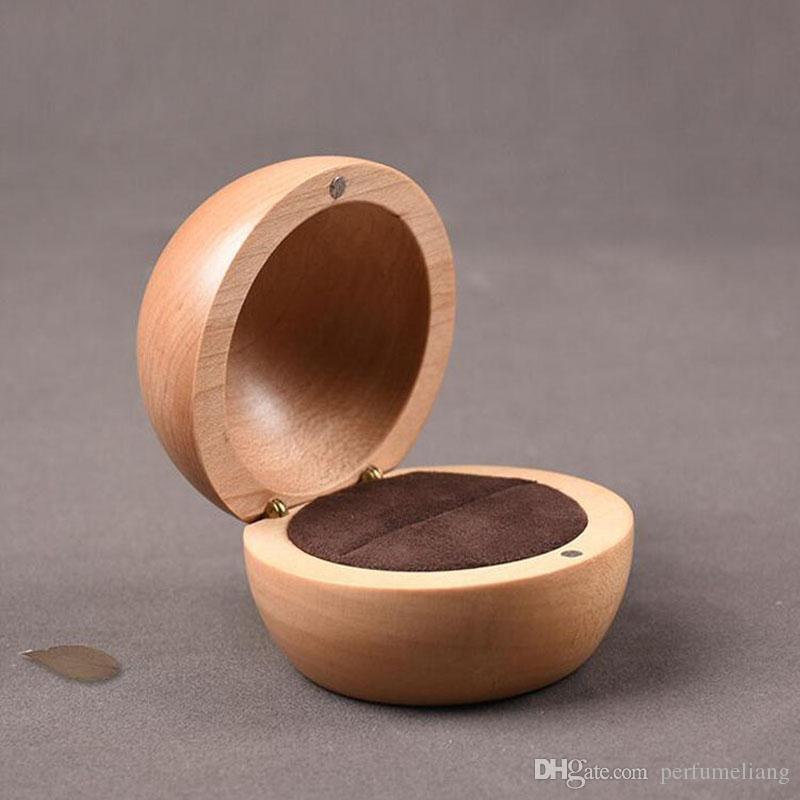 Grosshandel Hochzeit Ring Box Holz Schmuck Verpackung Fur