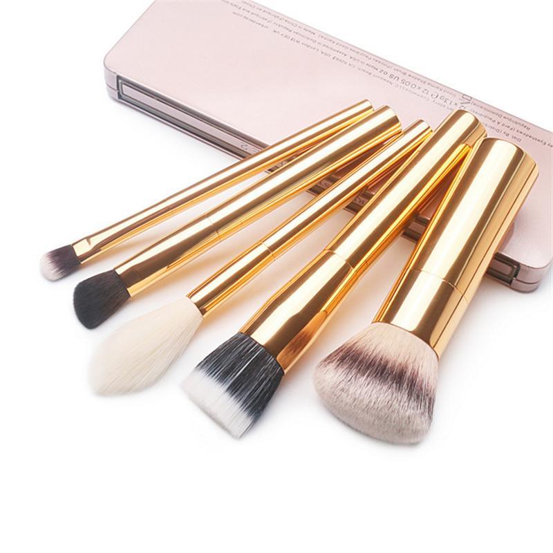 Luxury High End Metal Makeup Brushes Set Airbuki Foundation Powder Blush  Eye Blending Concealer Make Up Brush Gold Makeup Foundation Best Makeup  Products ... fb064891a
