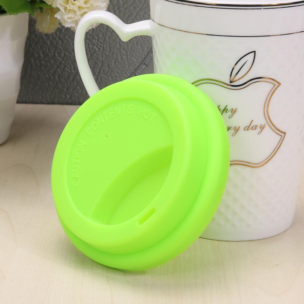 aa7c91e5e4c Silicone Cute Anti-dust Glass Cup Cover Coffee Mug Suction Seal Lid ...