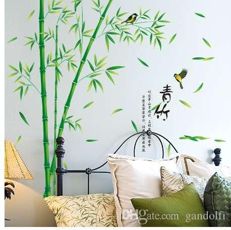 Captivant Acheter Shijuehezi Vert Bambou Stickers Muraux Vinyle Bricolage Motif Décor  À La Maison Autocollant Pour Salon Salle Du0027étude Décoration De $13.27 Du ...