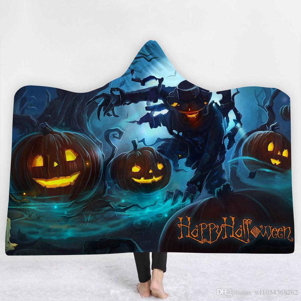 2018 New Halloween Blanket Nightmare Before Christmas Pumpkin Fleece ...