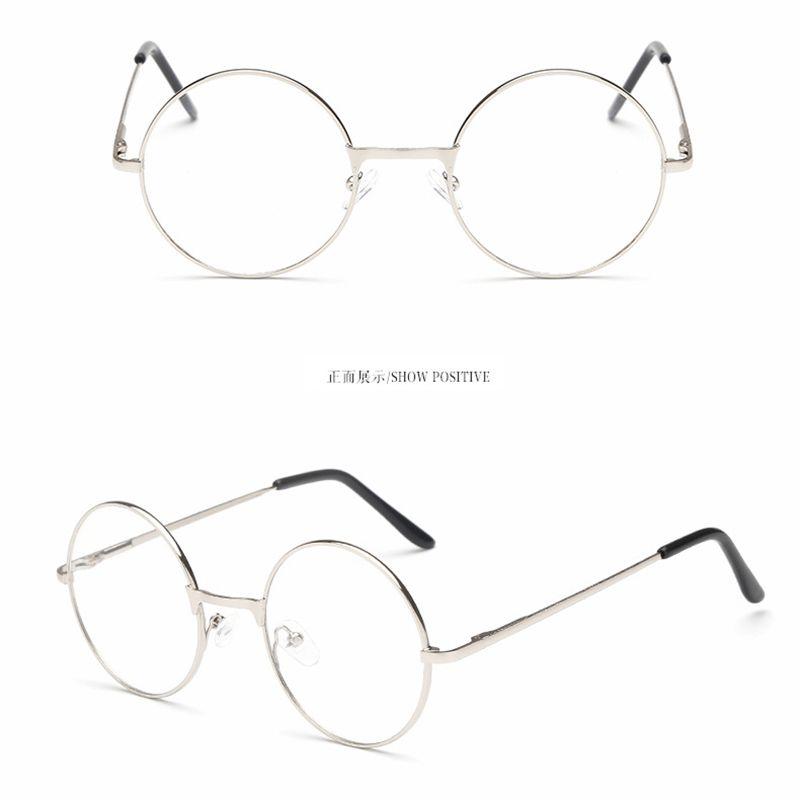 Eyeglass Frame Round Full Rim Transparent Unisex Eyewear Eyeglass ...