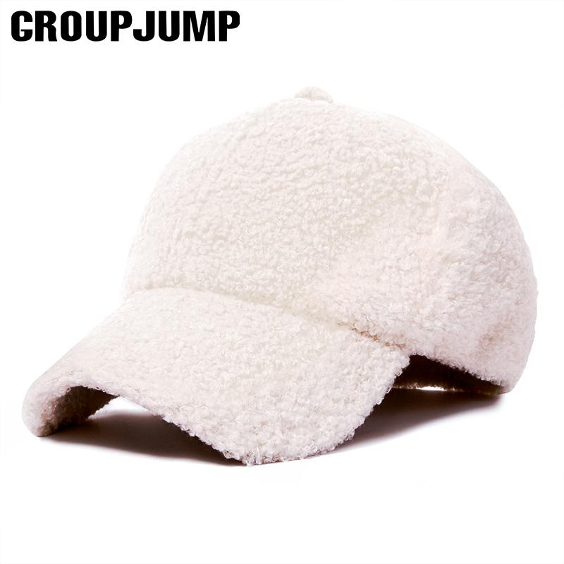 GROUP JUMP Winter Baseball Cap Women Adjustable Cotton Thick Caps Winter Hat  Unisex Bone Casual Breathable Cap Women Gift Hat Store Ny Cap From Strips 36836271bf2