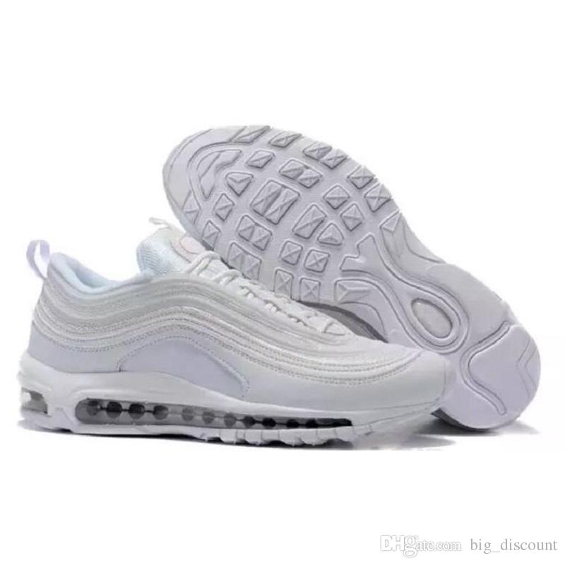 2018 Max97 97 Og Undftd Undefeated Triple white Running shoes Air97 OG Metallic Gold Silver Bullet Mens trainer Women sports sneakers A03