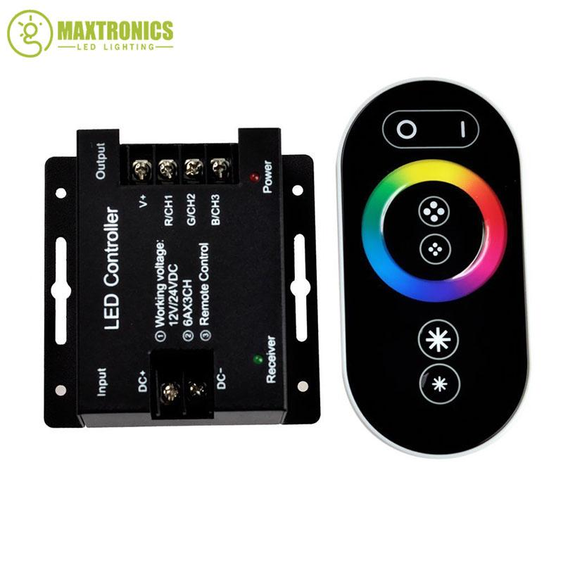 12-24V 18A RF Remote Wireless Touch Pad Panel RGB LED Controller controls for 5050 3528 RGB Light Controller Free shipping
