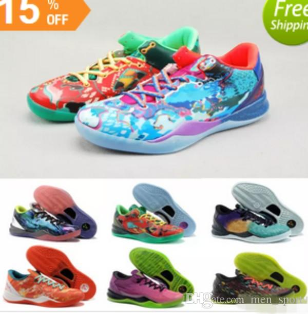 new products c1c83 cd16d Multicolor What The Kobe 8 VIII System Top Basketball Shoes For Cheap  Classic KB 8s Mamba Assassin Easter Master Sports Sneakers Size 40 46 Men  Sneakers ...