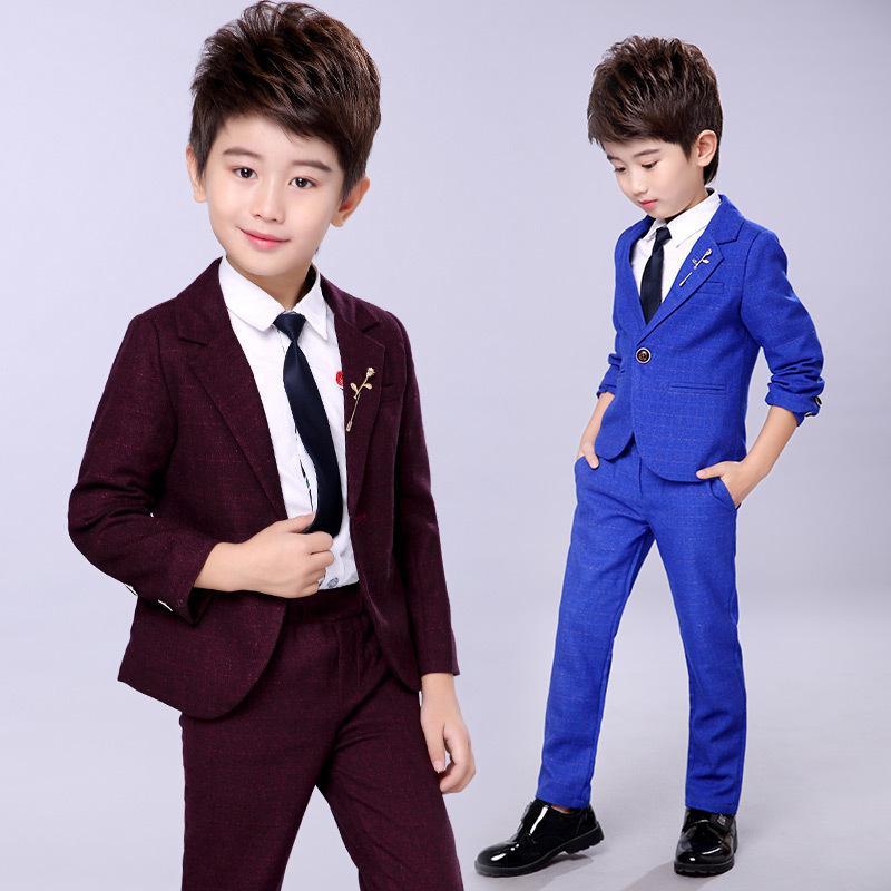 664cb21dc1 Children Suit Baby Boys Suits Kids Boys Formal Suit For Wedding Boys  Clothes Set Jackets Blazer+Pants 2pcs 2-14Y