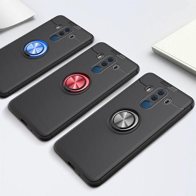 Pour Huawei Mate 10 Pro Case Support De Voiture Support Magnétique Support  Bague TPU Cas Pour Huawei Mate 10 Funda Coque Capa