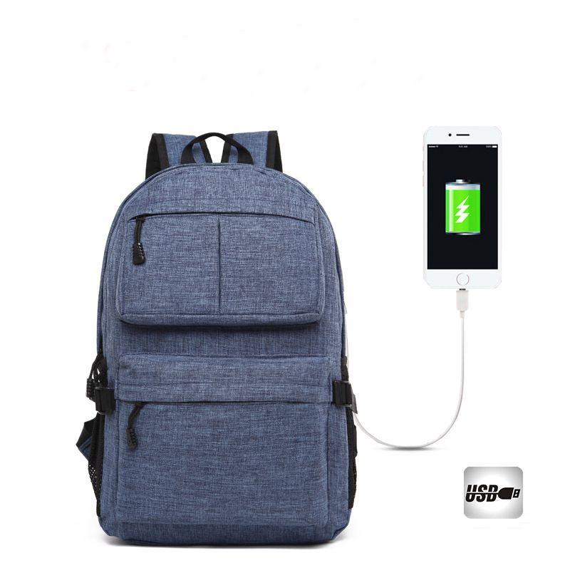 725453d13577 USB Unisex Design Backpack Book Bags For School Backpack Casual Rucksack  Daypack Oxford Canvas Laptop Fashion Man Back Pack Bag Backpacks For  College ...