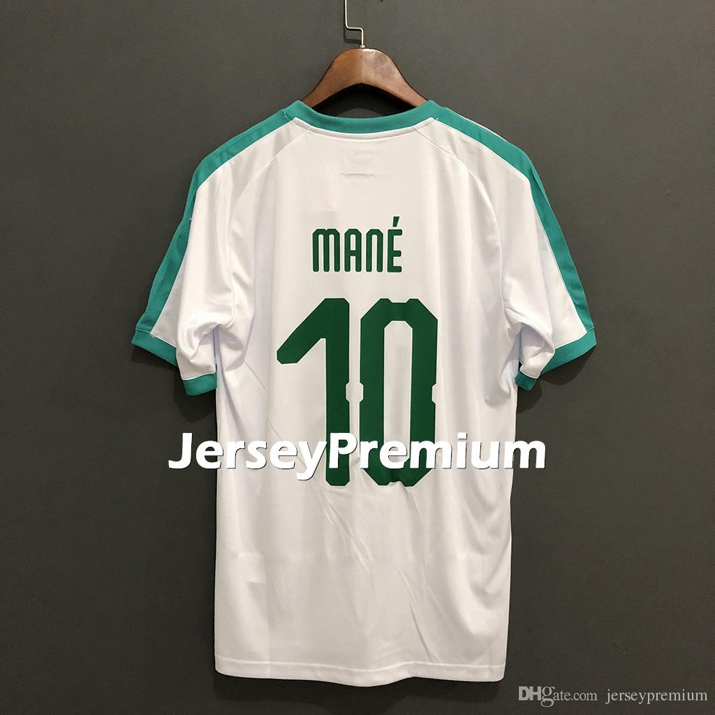 official photos 6db4d aefe6 Senegal Away Green Home White Football Soccer Jerseys Shirt Sénégal Baldé  Koulibaly Mané