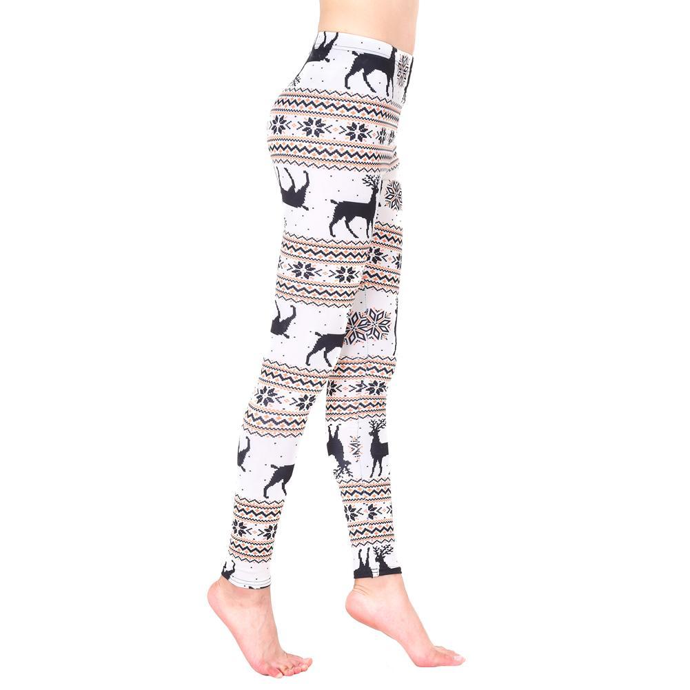 0811eaef2956e 2019 2017 Winter Autumn Women Warm Leggings Christmas Printed Slim Party  Trousers High Waist Vintage Fitness Capris Pants Female Hot From Baica, ...
