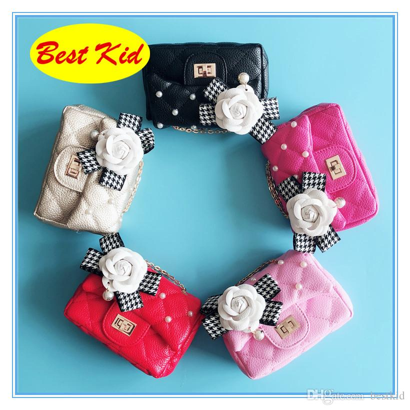 BestKid DHL ! Brand Flower Bead Purse for Childrens Baby Kids Small bags Toddlers Mini Messenger bags Little girls Bags BK023
