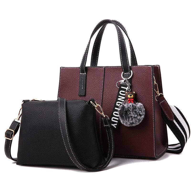 Women Handbags Ladies Leather Commuter Office Ring Tote Bag Women s Pouch  Bolsas Famous Ladys Flap Bag High Quality Black Top-Handle Bags Cheap Top-Handle  ... d72086c974282