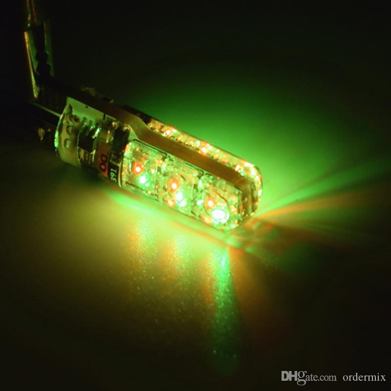 Hitzebeständiges ultra helles T10 6 führte 5050 RGB-multi Farben-Licht wasserdichte Auto-Keil-Lichter DC 12V