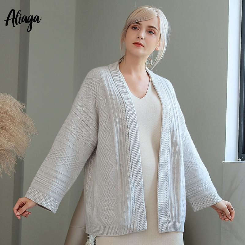 13cbfdf977c8 2019 100% Goat Cashmere Cardigans Women Long Cardigan Womens Sweaters Coats  2018 Winter Rib Knitted Warm Outerwear Cardigan Plus Size From Odelettu, ...