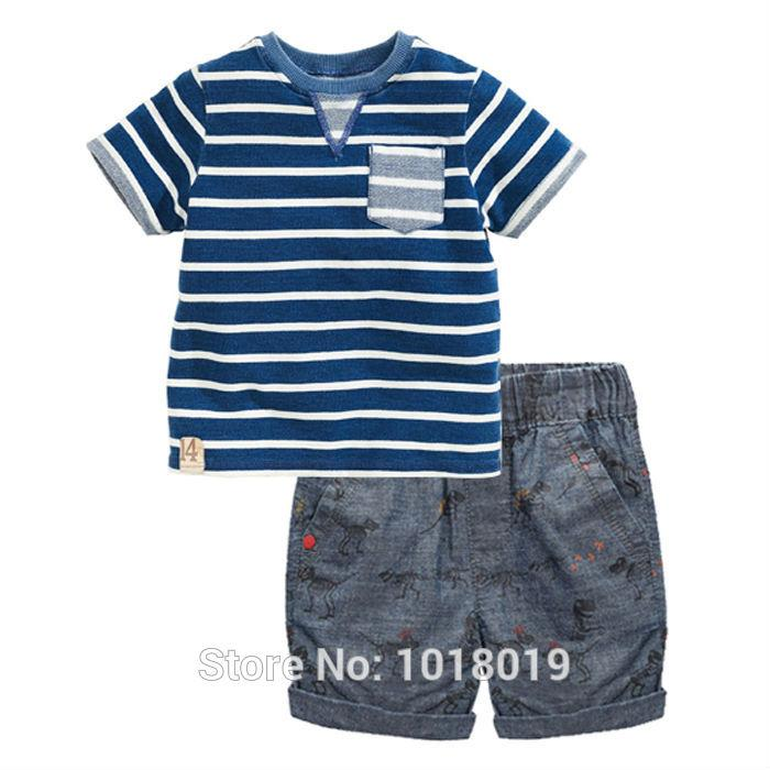 c26a337cdb12 New 2018 Summer Baby Boys Clothes Sets Brand Quality 100% Cotton Children  Clothing Set Kids Short Sleeve T-shirt Clothes Set Boy Summer Baby Boys  Clothes ...
