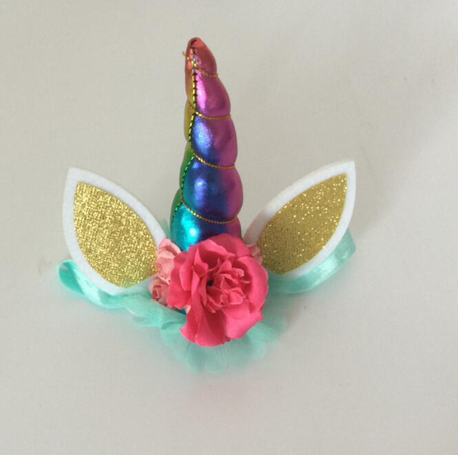 Glitter Unicorn Horns Headband For Girls And Kids Fashion Felt Padded  Unicorn Hair Band Animal Hair Accessories DIY Unicorn Party Party Items  Party Items ... 3052ab5513d