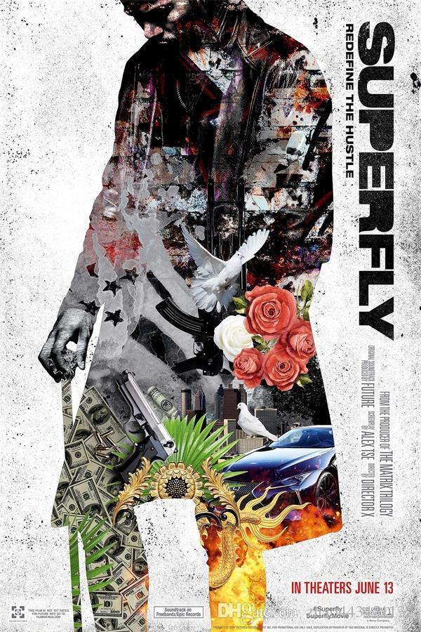 2018 2018 new superfly poster art silk printing 24x36 27x40 inch