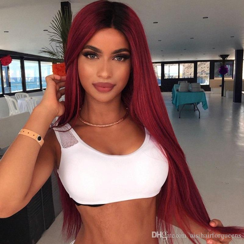 Red Wigs Short