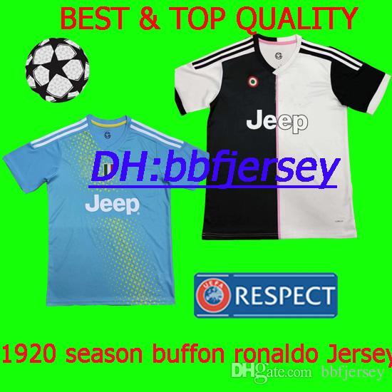 8f90b62f9 Thailand Soccer Jerseys 19 20 Goalkeeper Buffon Have Kids Kit Barzagli  Ronaldo Jersey Manjucci Costa Have Player Version Football Shirts UK 2019  From ...