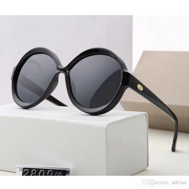 1ba82973aa Compre 2018 Senhora Óculos De Sol Da Mulher Marca De Luxo Designer De Moda  Rodada Quadro Com Caixa De Óculos De Sol Polarizados Para As Mulheres 6  Cores ...