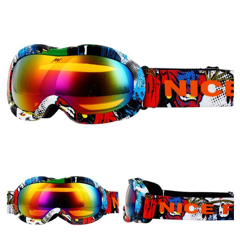bc23a64967 Marcas Niños Niñas Gafas De Esquí Niños Snowboard Gafas Doble Lente UV400  Antiniebla Máscara De Esquí Gafas Niños Nieve Patín Invierno Por Oyzhiming,  ...