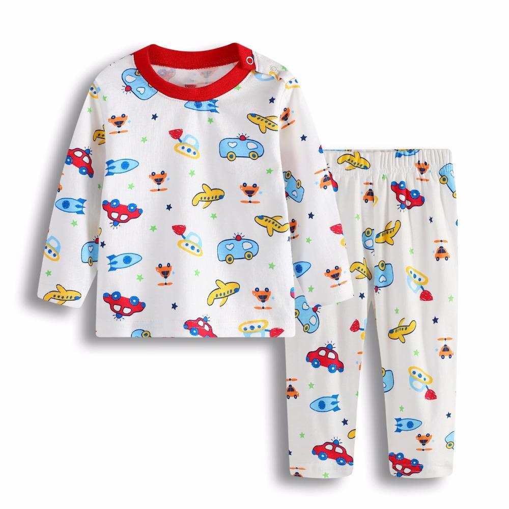7788ce8508 2018 New Fashion Children S Clothing Cotton Boy 0 2 Years Old Baby Cartoon  Long Sleeve Small Plane Set Pajamas Cute Christmas Pajamas For Kids Best  Boys ...