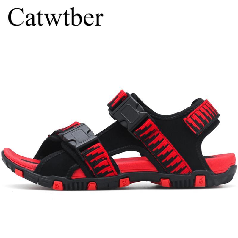 finest selection fe089 eed46 Catwtber Outdoor Sport Sandalen Herren Sommer atmungsaktive Casual Strand  Sandalen Herrenschuhe Hausschuhe Anti-Rutsch-Outdoor-Zapatos Hombre