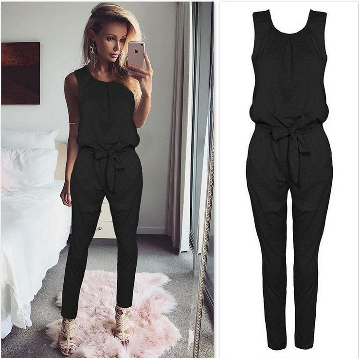 711acdad1e Sexy Sleeveless Jumpsuit Women Long Romper 2018 New Summer Women ...