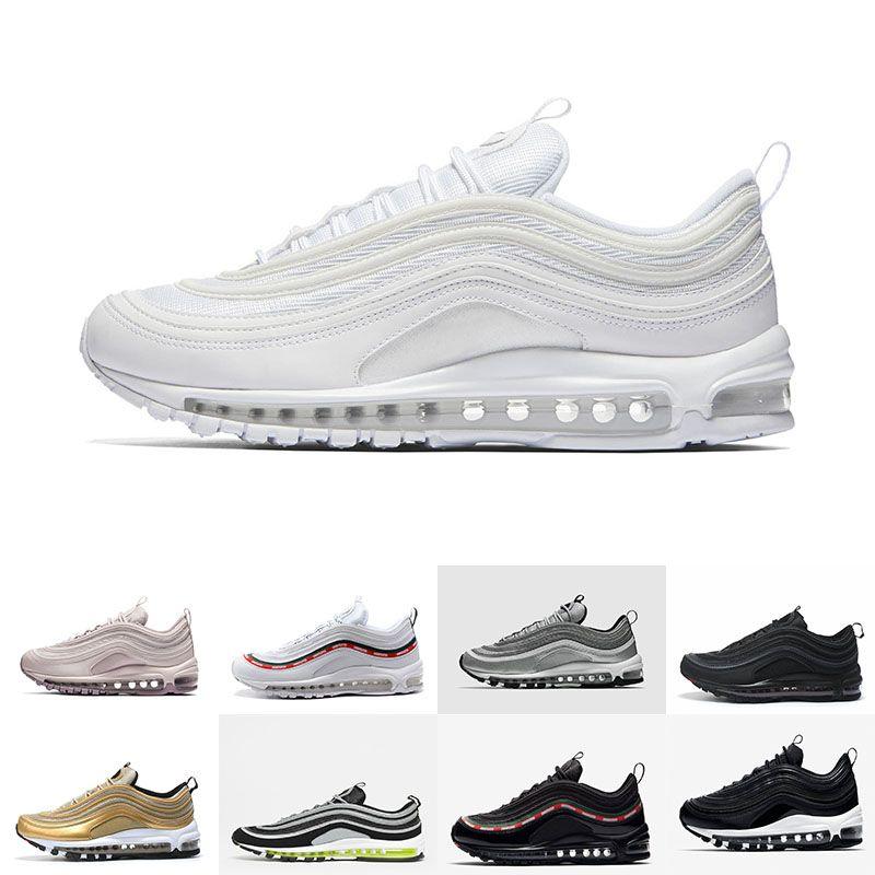 1ab8896402f98a 97 OG Running Shoes Tripel White Metallic Gold Silver Bullet 97 Best ...