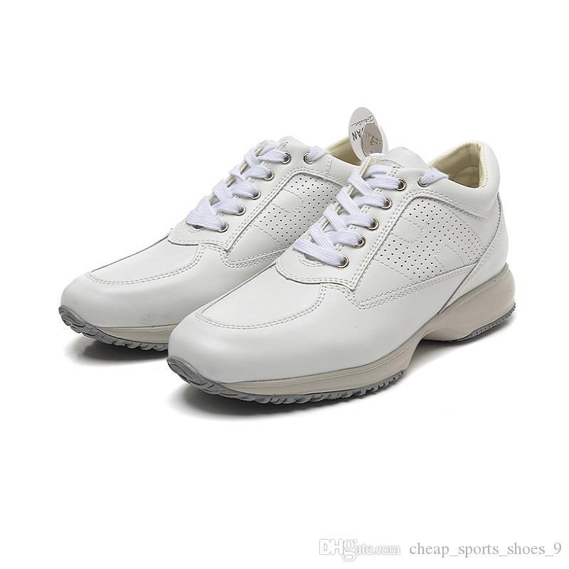 068e8964063 Acheter Hogans Baskets Femmes Chaussures De Mode En Cuir Véritable Chaussures  De Designer Blanches Chaussures De Sport Classiques Baskets Interactives ...