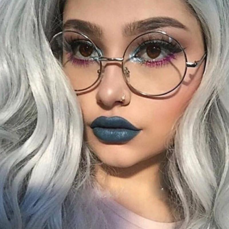 Compre 2018 Mujeres Anteojos Marco De Aleación Redonda Gafas Graduadas  Retro Clear Ojo Óptico Glasse Gafas Marcos Para Hombres Mujer A  27.78 Del  Xiacao ... 5bf2061543d9