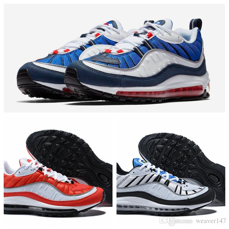 free shipping good selling New Arrival 98 OG Gundam Red Blue Silver Bullet Men Sneakers 2018 White Running Shoes Fashion Retro Brand Sports Sneakers 7-11 official cheap price sale buy cheap sale 2014 new WLsxASI