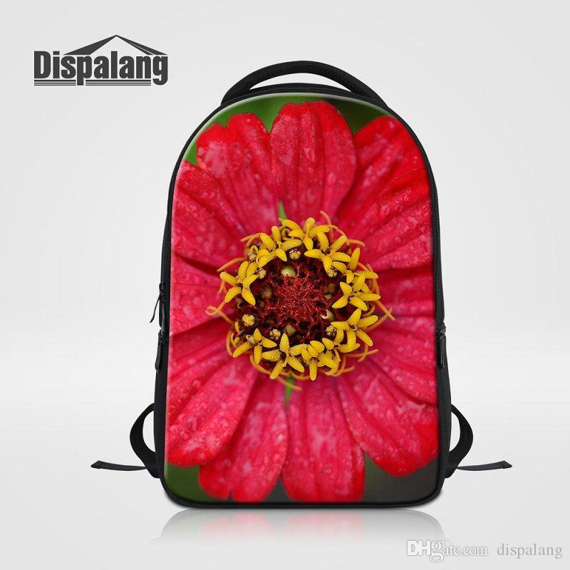 3D Printing Flower Laptop Backpack For College Female Mochilas Escolar Women  Traveling Shoulder School Bag Girls Hip Hop Rucksack Sac A Dos Jansport Big  ... fb96bac58fa83