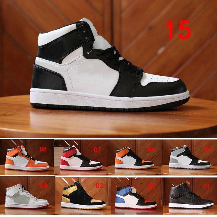 buy popular c2307 034cd Großhandel 2018 Nike Air Jordan 1 Retro Basketball shoes Neue Ankunft Og  Top 1 Männer Schwarz Gold Casual Outdoor Schuhe 1s Hohe Qualität Laufschuhe  Herren ...