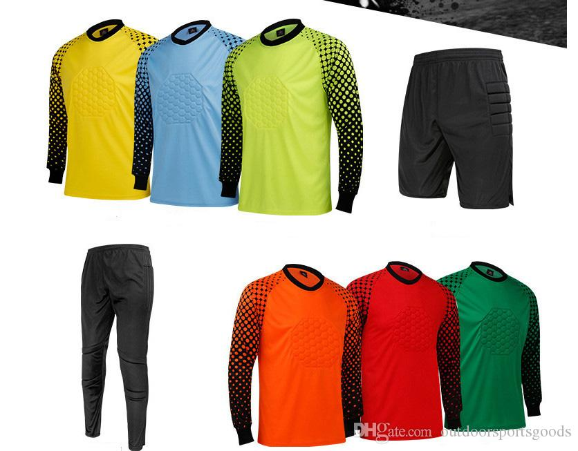 f1f361fc2e5 Football goalkeeper suit long sleeve shirt men's professional goalkeeper  wear long - sleeved shirt training clothing group purchase wholesal