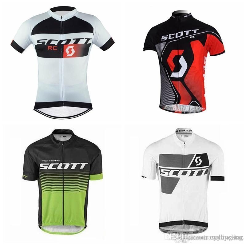 2018 100% Polyester SCOTT Cycling Jersey Summer Breathable Mountain Bicycle Clothing Maillot Ciclismo Racing Bike Clothes F0906
