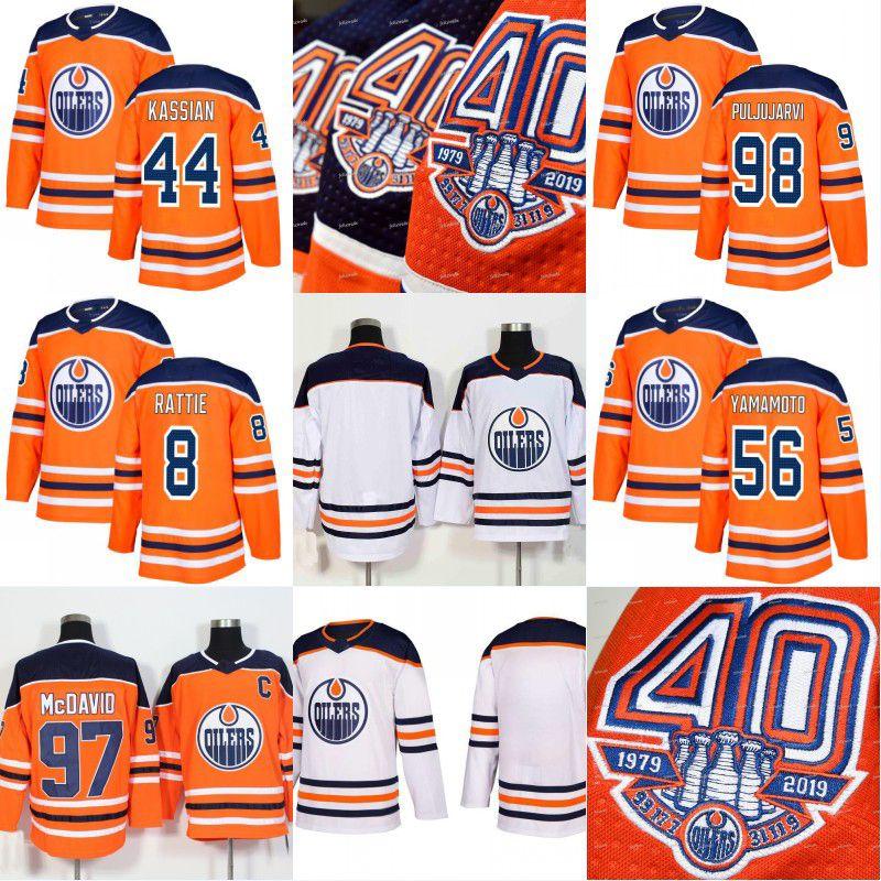 60edf240494 2019 2018 19 40th Anniversary 1917 2019 Patch Edmonton Oilers Zack Kassian  Jesse Puljujarvi Ty Rattie Kailer Yamamot Men Women Youth Jersey From  Felixtrade