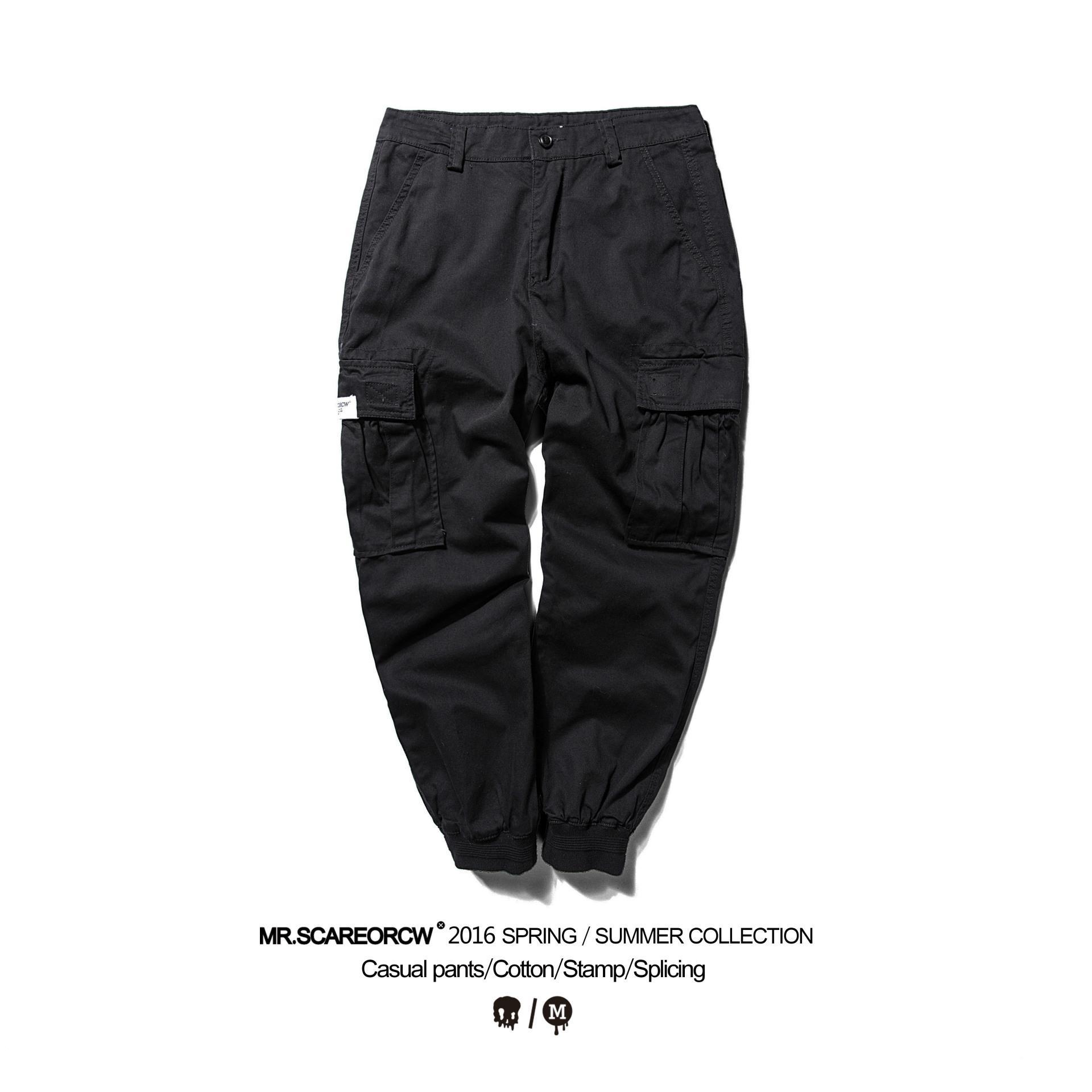 Compre Pantalones De Harén De Camuflaje Militar De Verano Para Hombre De Varios  Bolsillos Ocasionales Homme Thin Tobillo Atado De Algodón Negro Pantalones  ... 0b3adb7bf4fe